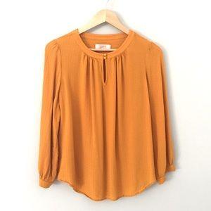 LOFT Golden Yellow Blouse  Size: L